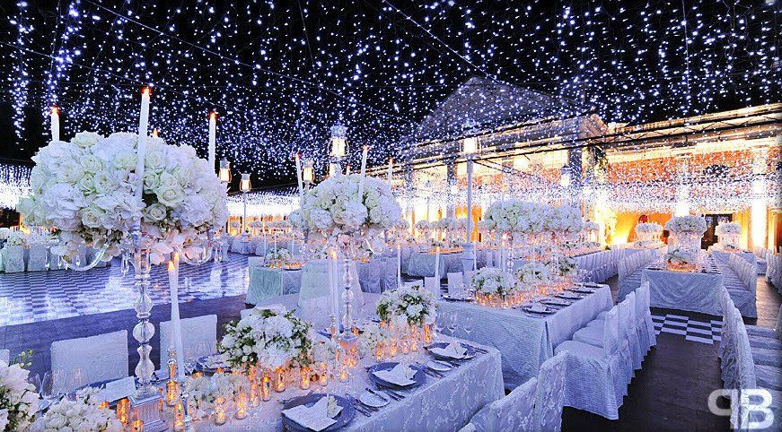 Image result for fairy lights wedding decor