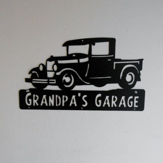 1928 1929 Ford Truck Man Cave Classic Model A Garage Etsy Ford Truck Wooden Toy Trucks Personalized Metal Signs