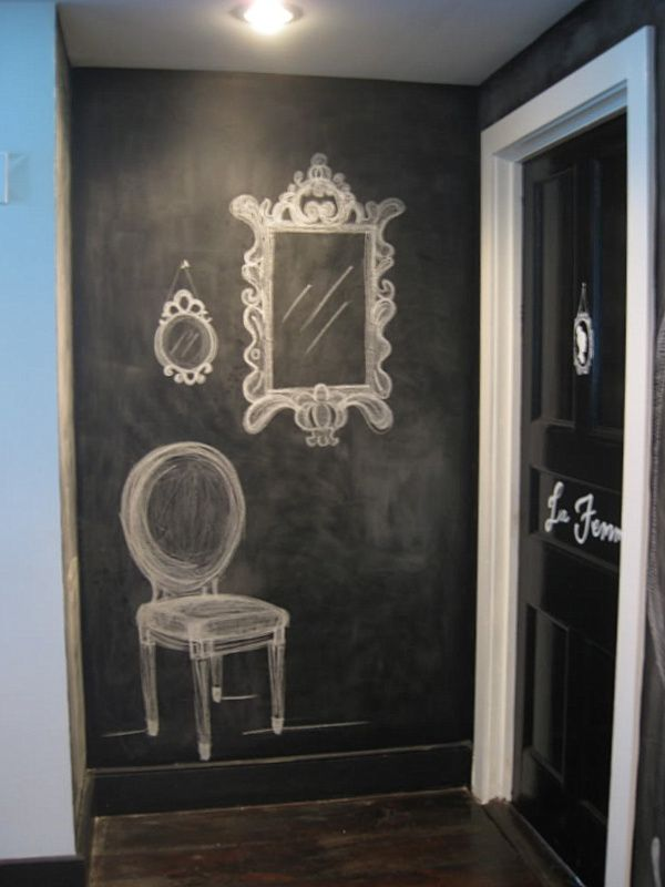 Blackboard Paint Part - 39: Chalkboard Paint Ideas: When Writing On The Walls Becomes Fun