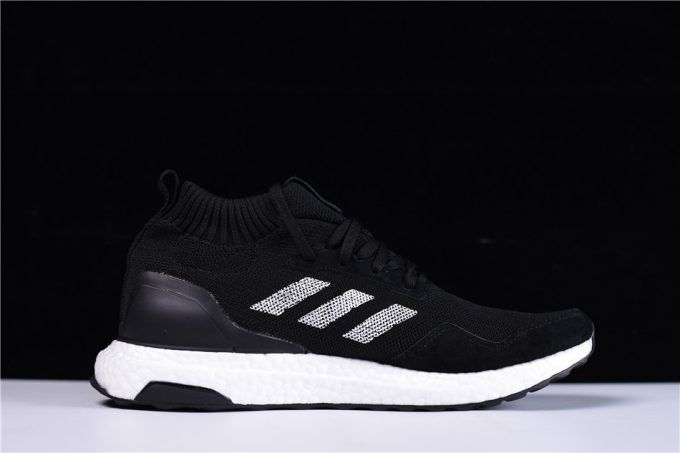 e59a607fe8ce9 Cheap Mens adidas Ultra Boost Mid Black White Shoes On Sale-2
