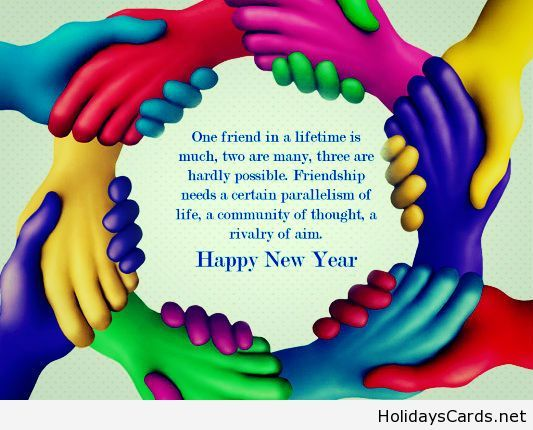 Happy New Year Friendship Quote Happy New Year Pinterest Happy