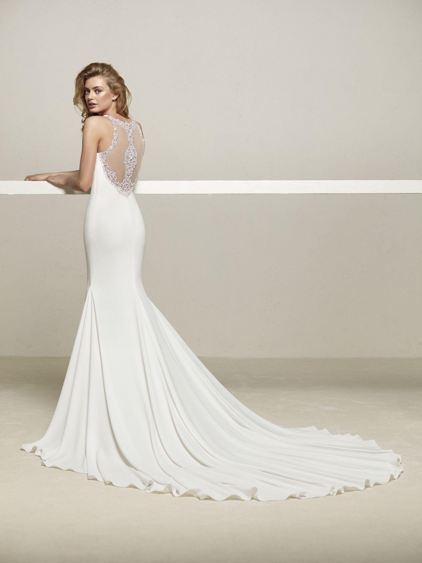 Vestidos de novia espalda joya