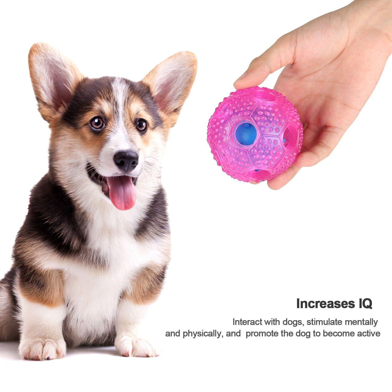 Airsspu Dog Treat Dispensing Iq Treat Ball Interactive Dog Toy