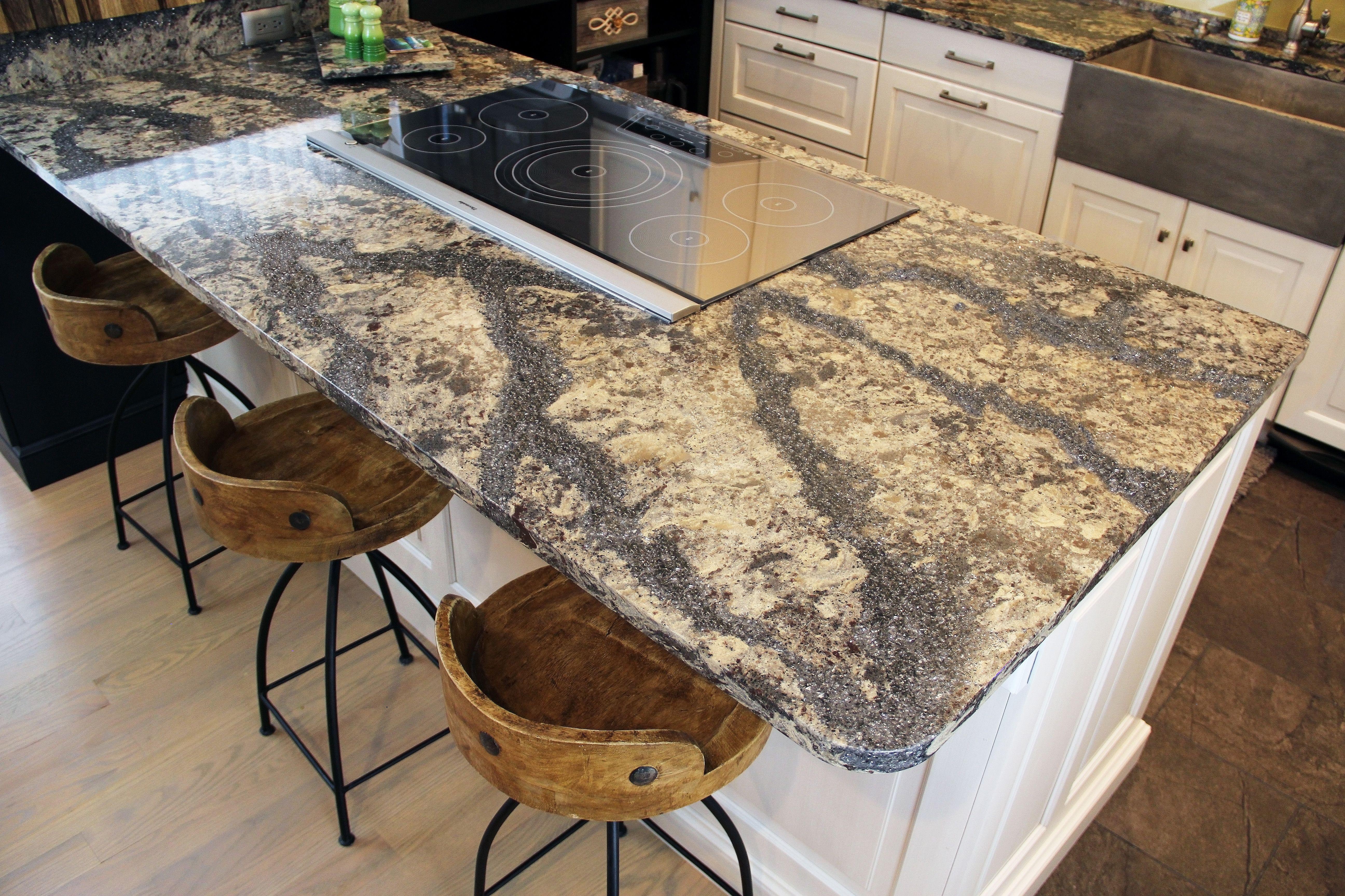 Beautiful Cambria Quartz Countertop In A Rustic Style Kitchen