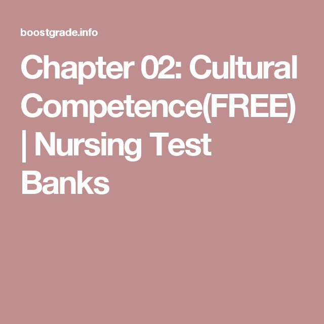 Chapter 02: Cultural Competence(FREE) | Nursing Test Banks