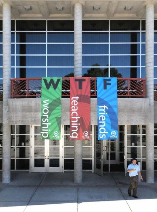 """3.) This church, who apparently had no young members to point out what """"WTF"""" meant."""