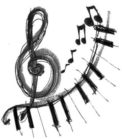 notas musicales  Tumblr  Dibujos  Pinterest  Pianos Drawings
