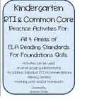 Are you looking for activities to do with your students that addresses all 4 areas of the kindergarten ELA Common Core Reading Standards for Founda...