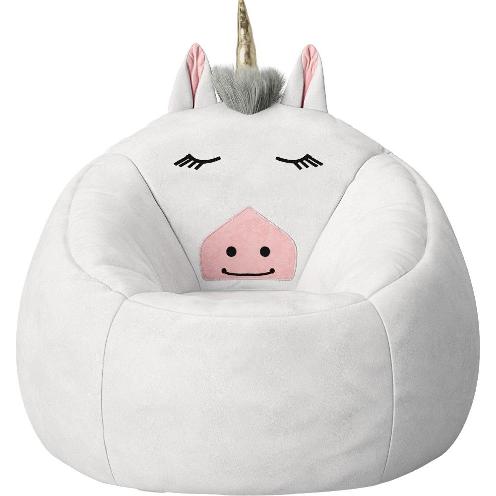Remarkable Character Bean Bag Chair White Unicorn Pillowfort In 2019 Beatyapartments Chair Design Images Beatyapartmentscom