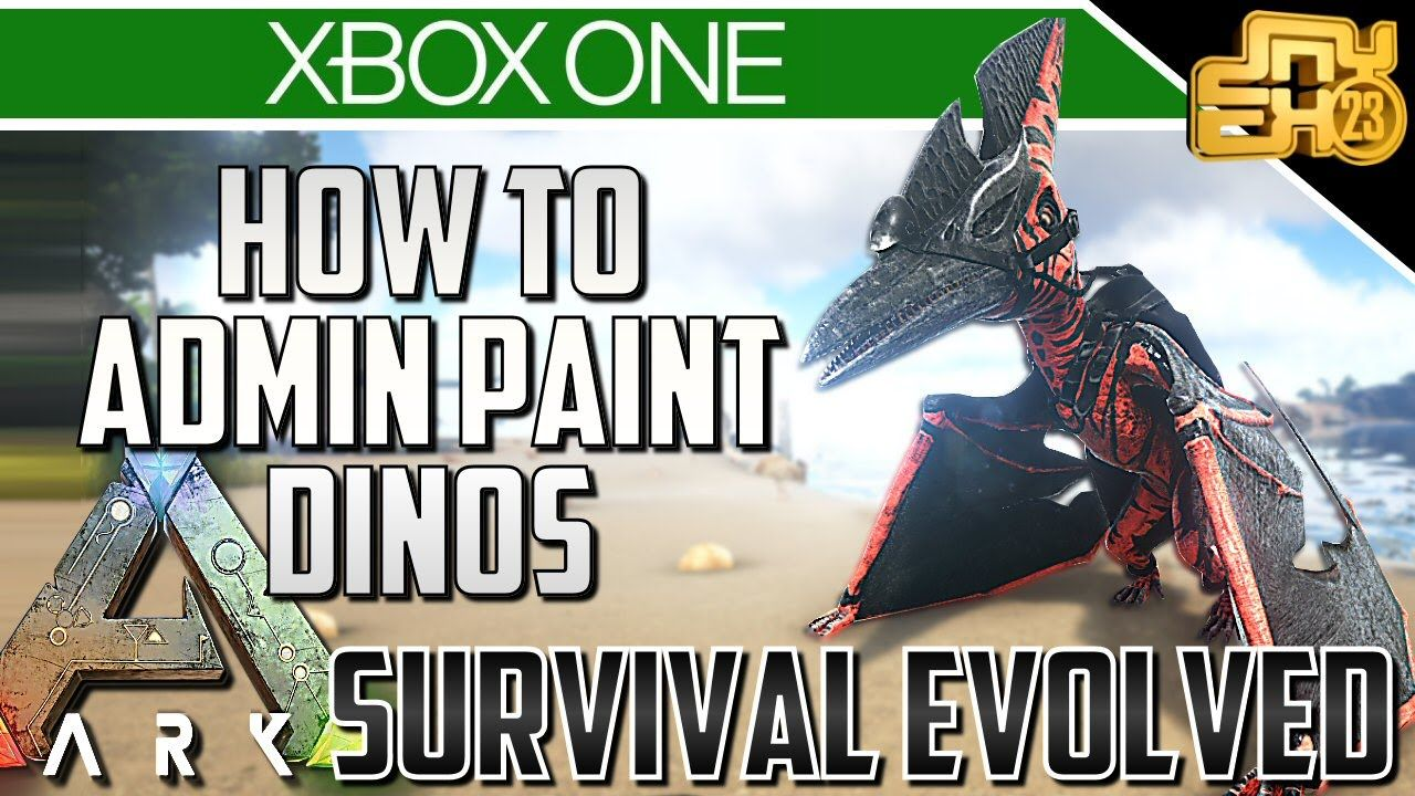 ARK XBOX ONE - HOW TO PAINT YOUR DINOS - ADMIN PAINT COMMANDS! | Ark