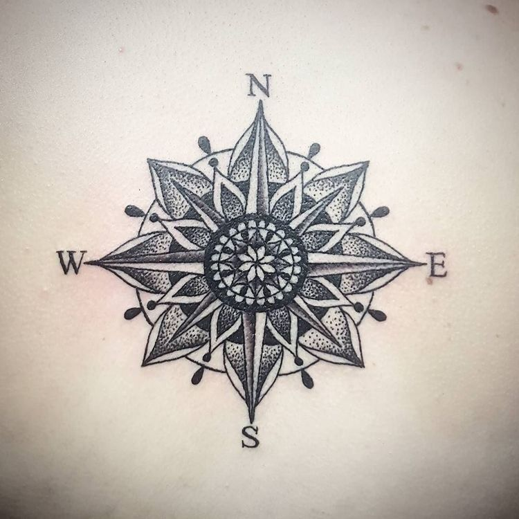 100+ Awesome Compass Tattoo Ideas