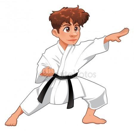 Descargar Jugador De Karate De Bebe Ilustracion De Stock 9840171 Karate Dibujo Karate Karate Kid
