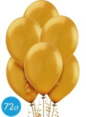Gold Pearlized Latex Balloons 12in - Party City