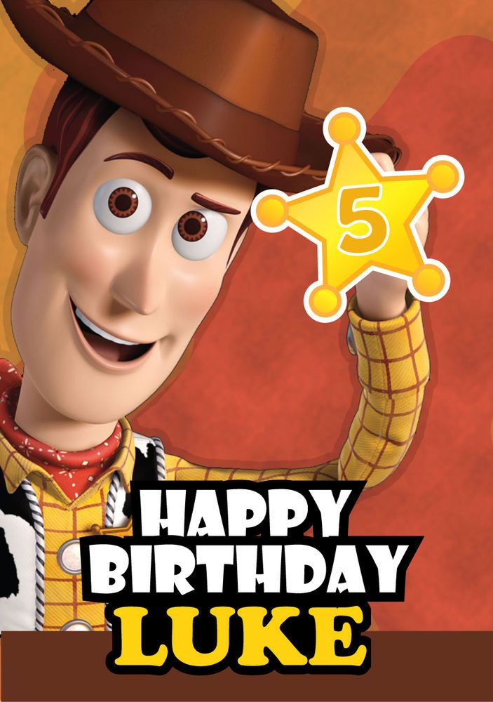 Toy Story Woody Personalised Kids Birthday Card A5 Card Ideas