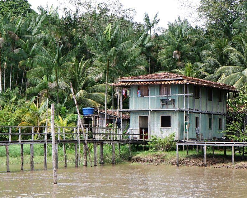 Amazon river photography print brazil travel photograph