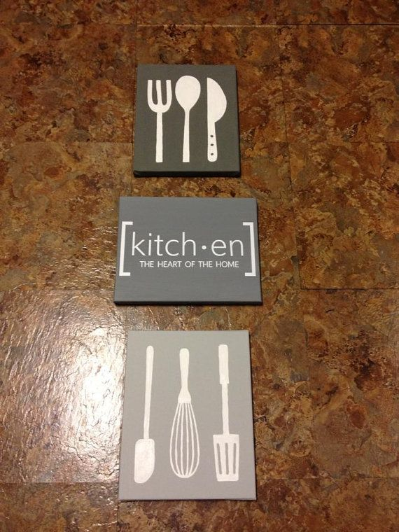 Kitchen Canvas Wall Art kitchen art canvas set utensils | painting | pinterest | kitchen
