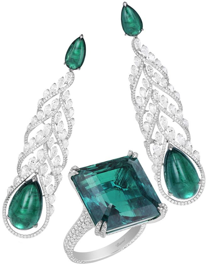 Chopard - Diamonds, emeralds, white gold.