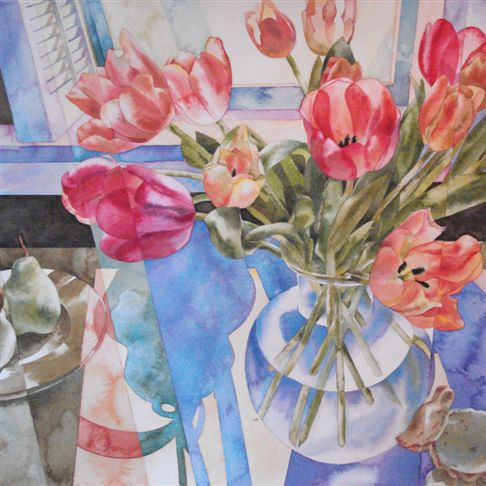 Janet Fish tulips