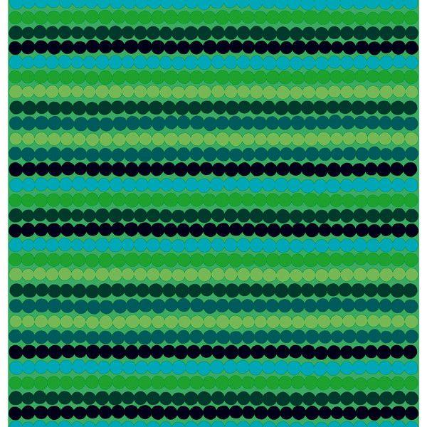 Marimekko Räsymatto fabric, green ($58) ❤ liked on Polyvore