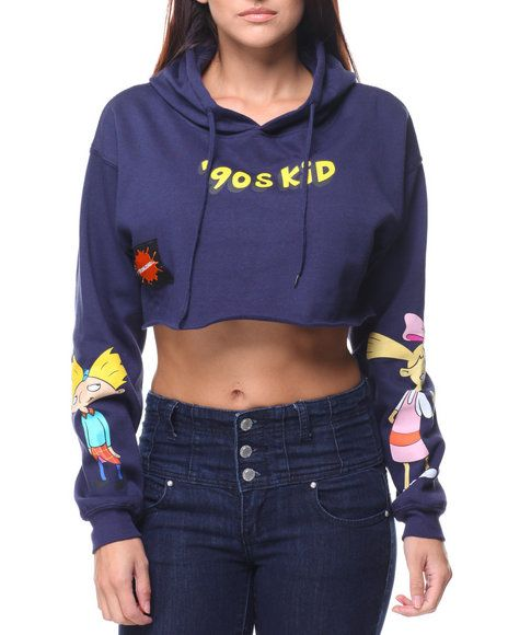 614b12f3c1 90's Kid Hey Arnold Cropped Hoodie by Graphix Gallery at DrJays ...
