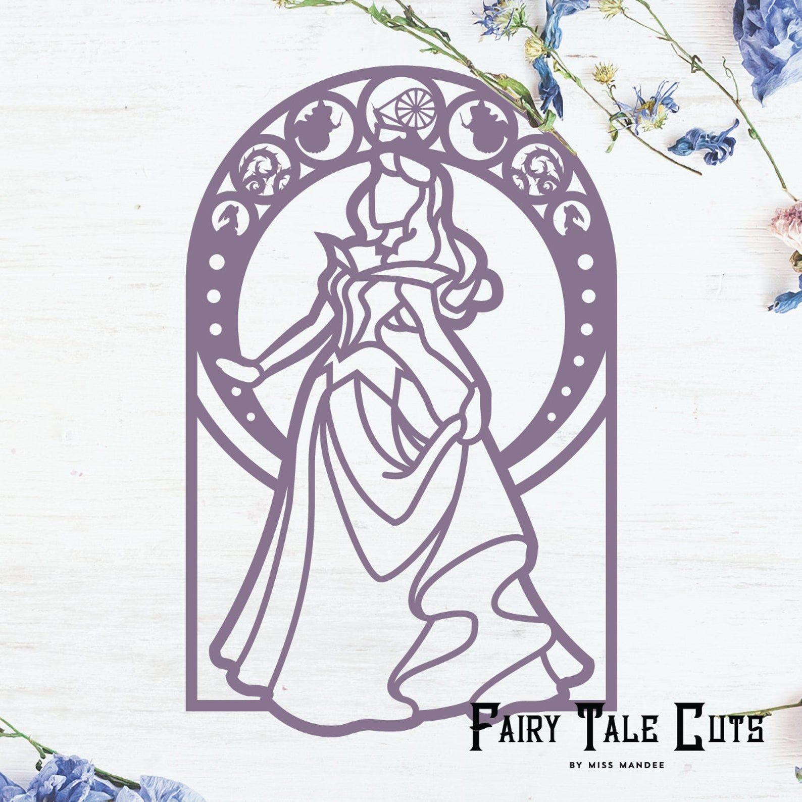 Sleeping Beauty Inspired File Design Digital Download