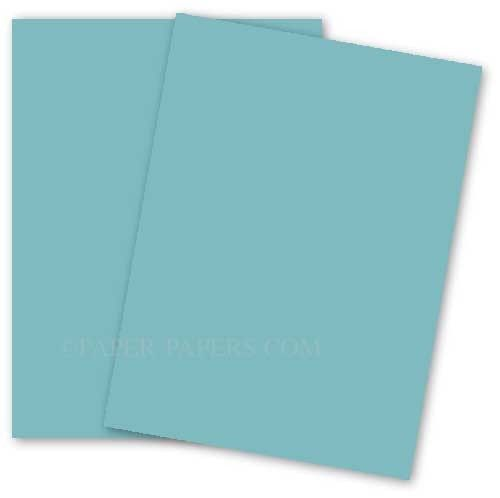 Basis Colors 11 X 17 Cardstock Paper Aqua 80lb Cover 100 Pk In 2020 Cardstock Paper Paper Card Stock