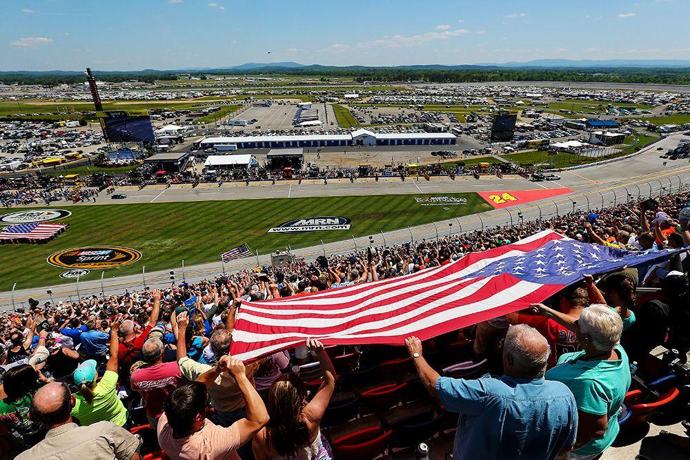 Patriotism in NASCAR Nascar, Football and basketball