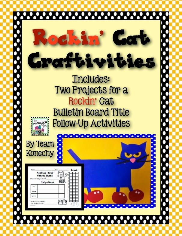 Pete the Cat Back to School Pete the cat, Craftivity