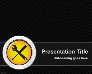 Free Maintenance Powerpoint Template With Tools And Dark