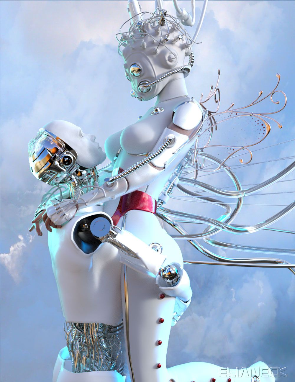 Cyber Cinderella By Elianeck Art Cyber 3d Artwork