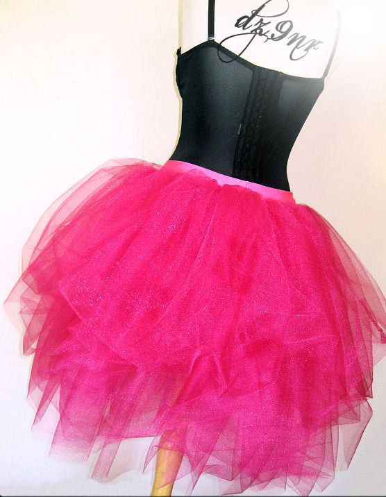 0cc4c6b33b Luxurious Hot Pink Adult Tulle Tutu SKIRT 80's Prom | 2017 New ...