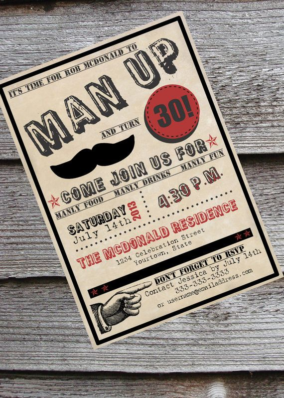 17 Best images about 30 – Male 30th Birthday Invitations