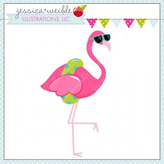 Flamingo party. In a pool sadie