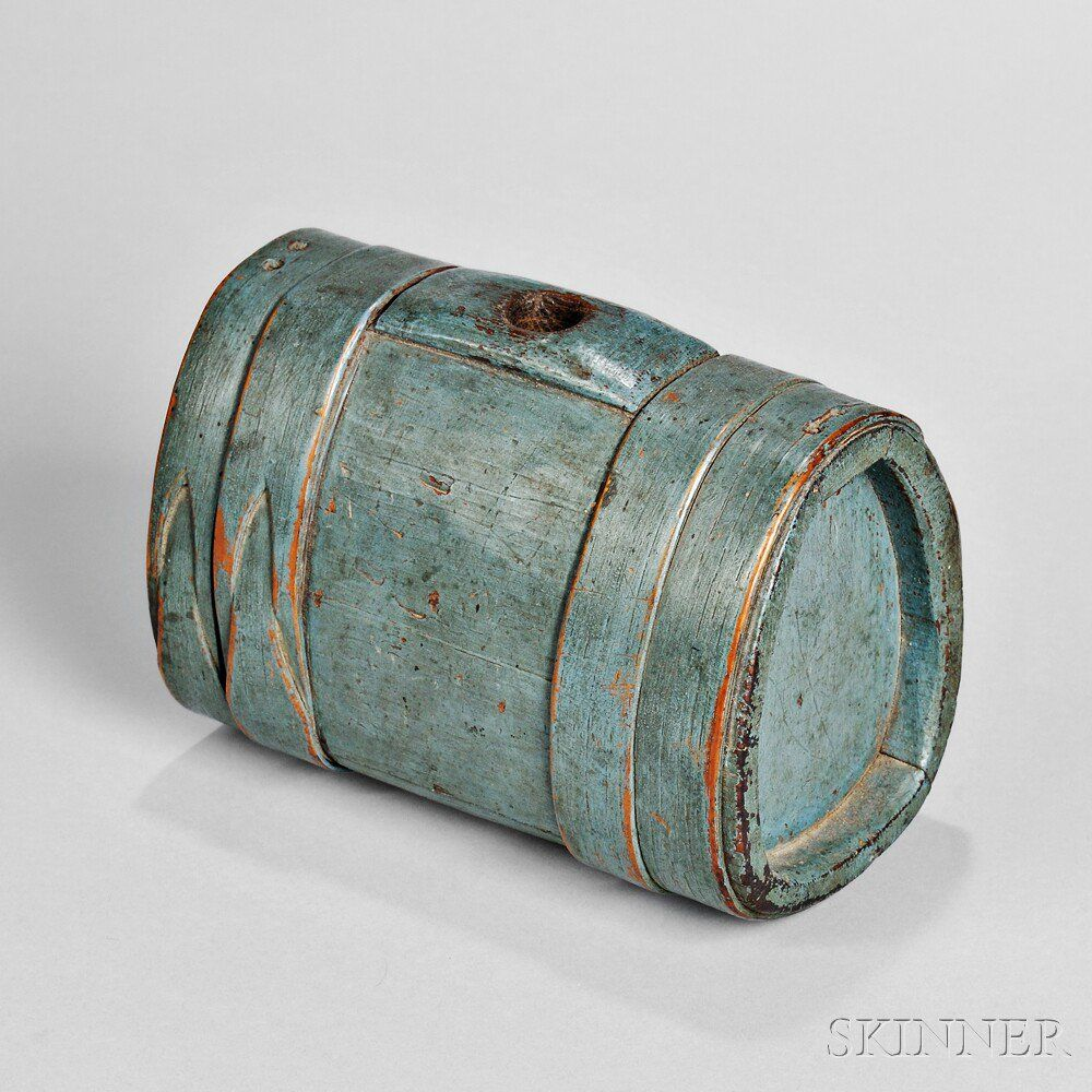 Blue-painted Canteen | Sale Number 2897M, Lot Number 326 | Skinner Auctioneers
