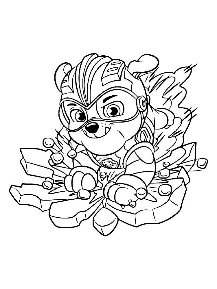 Free Download Mighty Pups Coloring Pages