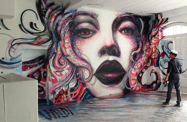 Amazing mural by @valdvald in Florianopolis #streetart Street Art