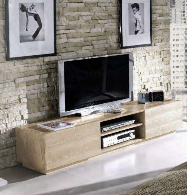 mobile porta-tv realizzato interamente in legno di abete di alta ...