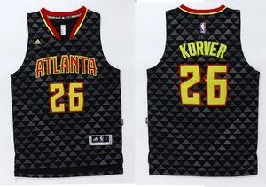 6c0e012d758 Hawks  26 Kyle Korver Black Swingman Stitched NBA Jersey