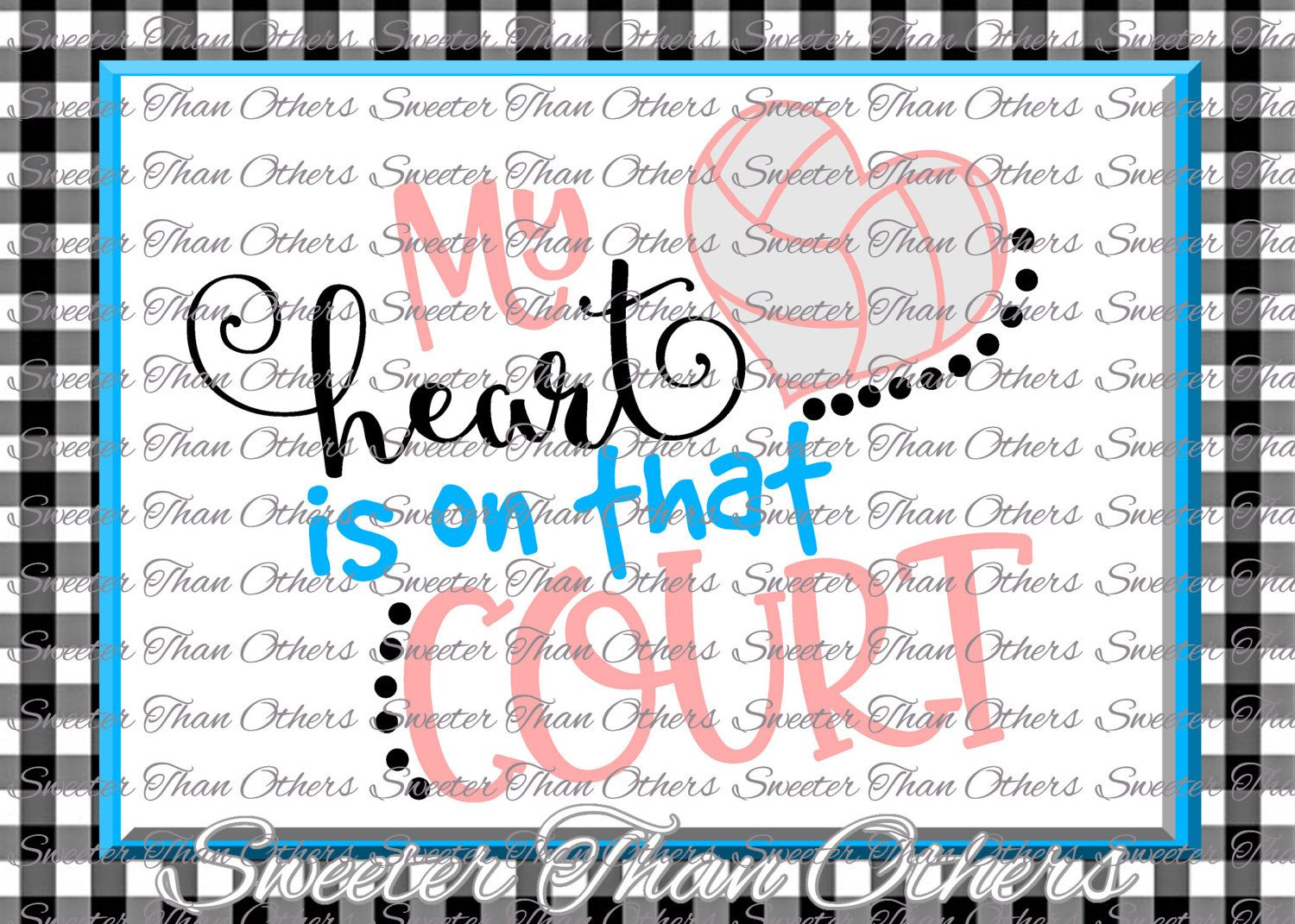 Volleyball Svg Water Polo Htv Shirt Design Vinyl Svg And Dxf Files My Heart Is On That Court Silhouette Cameo Cricut Instant Download By Water Polo Font Names Cricut