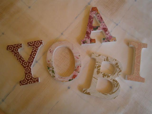 Letras de madera con decoupage trabajos manualidades y bricolaje pinterest letras letras - Manualidades y bricolaje ...