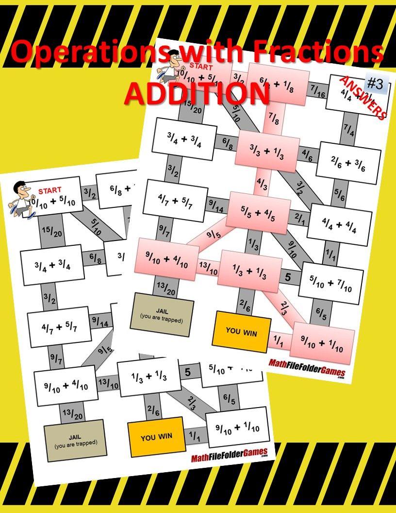 Fraction Mazes/Worksheets BUNDLE | Divertido