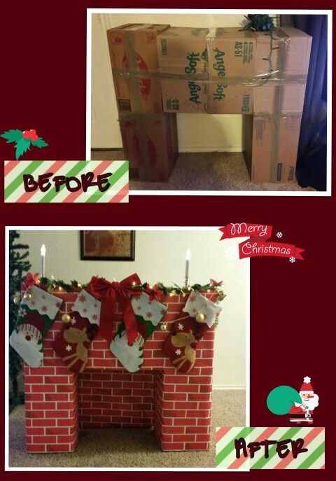 Thanks for the ideas fellow pinners. Kids Love our cardboard fireplace. Happy holidays. RM
