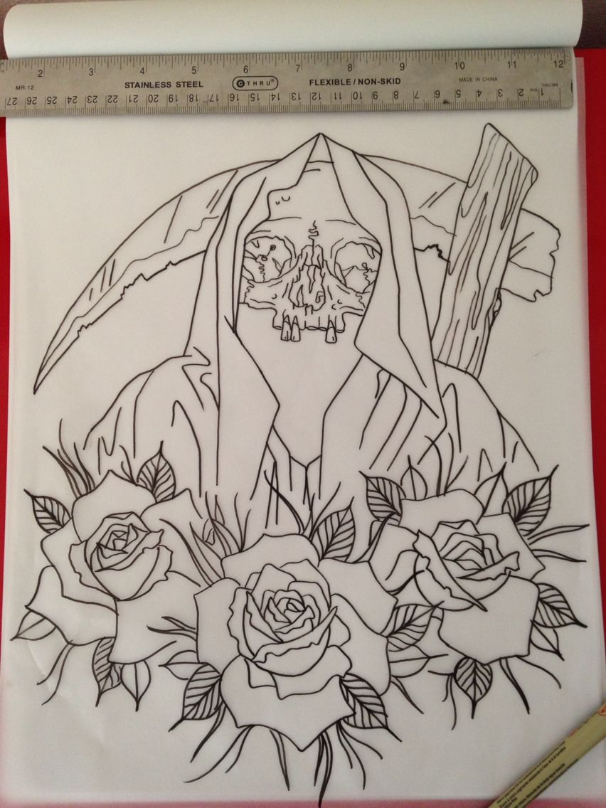 Neo Traditional Reaper Outline Traditional Tattoo Outline Tattoo Outline Neo Traditional Tattoo