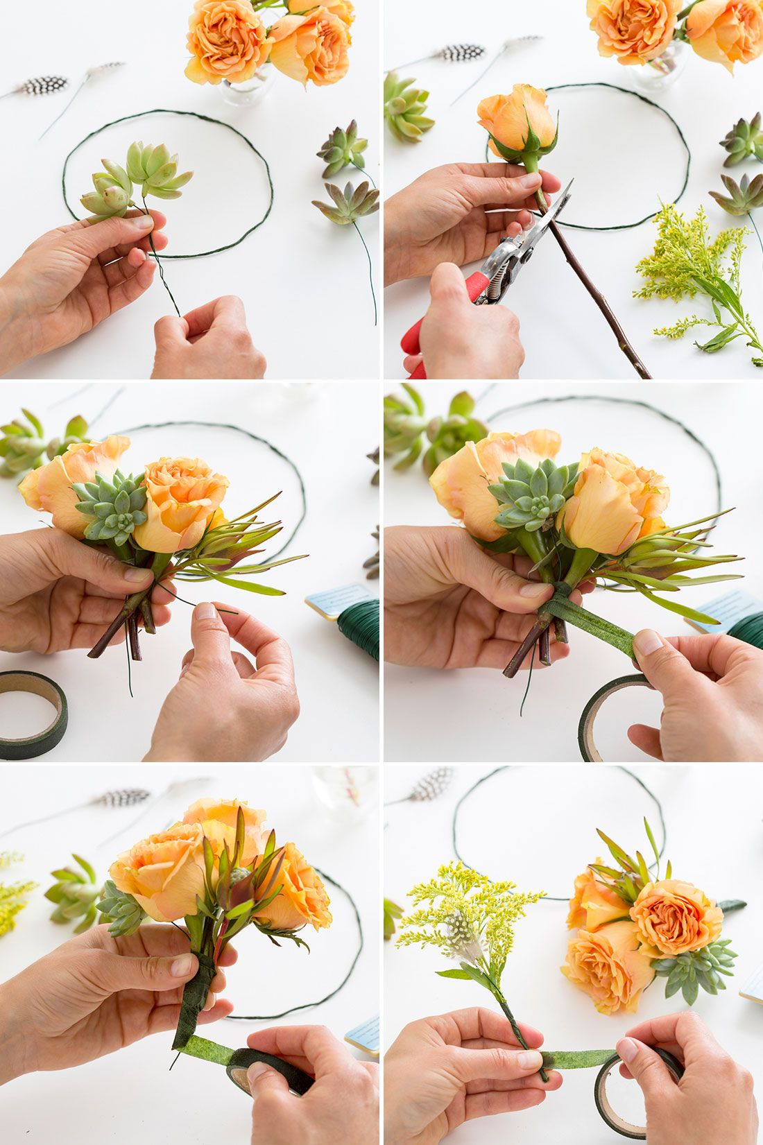All you need to make a lavender flower crown is some floral tape learn how to make a flower crown with this tutorial izmirmasajfo