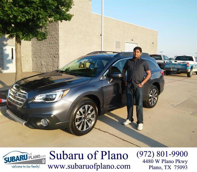 Happy Anniversary To Ajay On Your Subaru Outback From Daniel Guerrero At Subaru Of Plano Happy Anniversary Subaru New Cars
