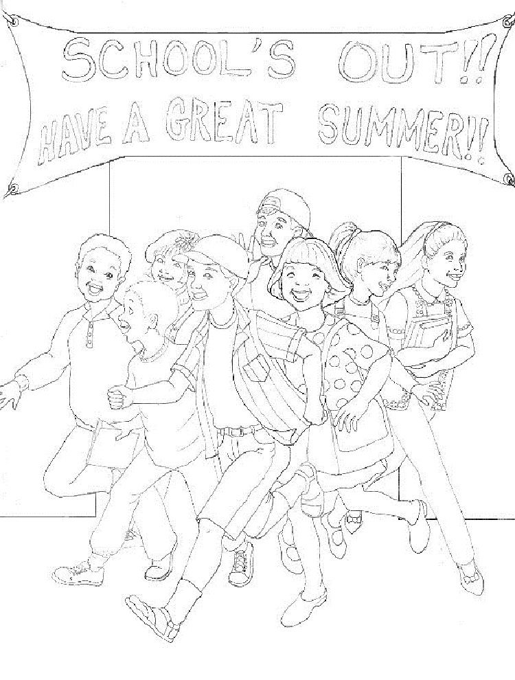 Last Day Of Summer Coloring Pages