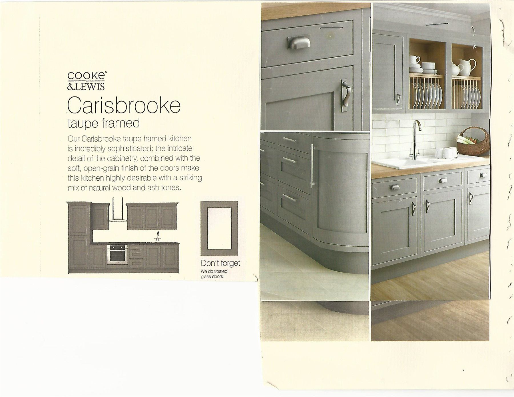 New B&Q Cooke & Lewis Carisbrooke Taupe framed flat packed fitted ...