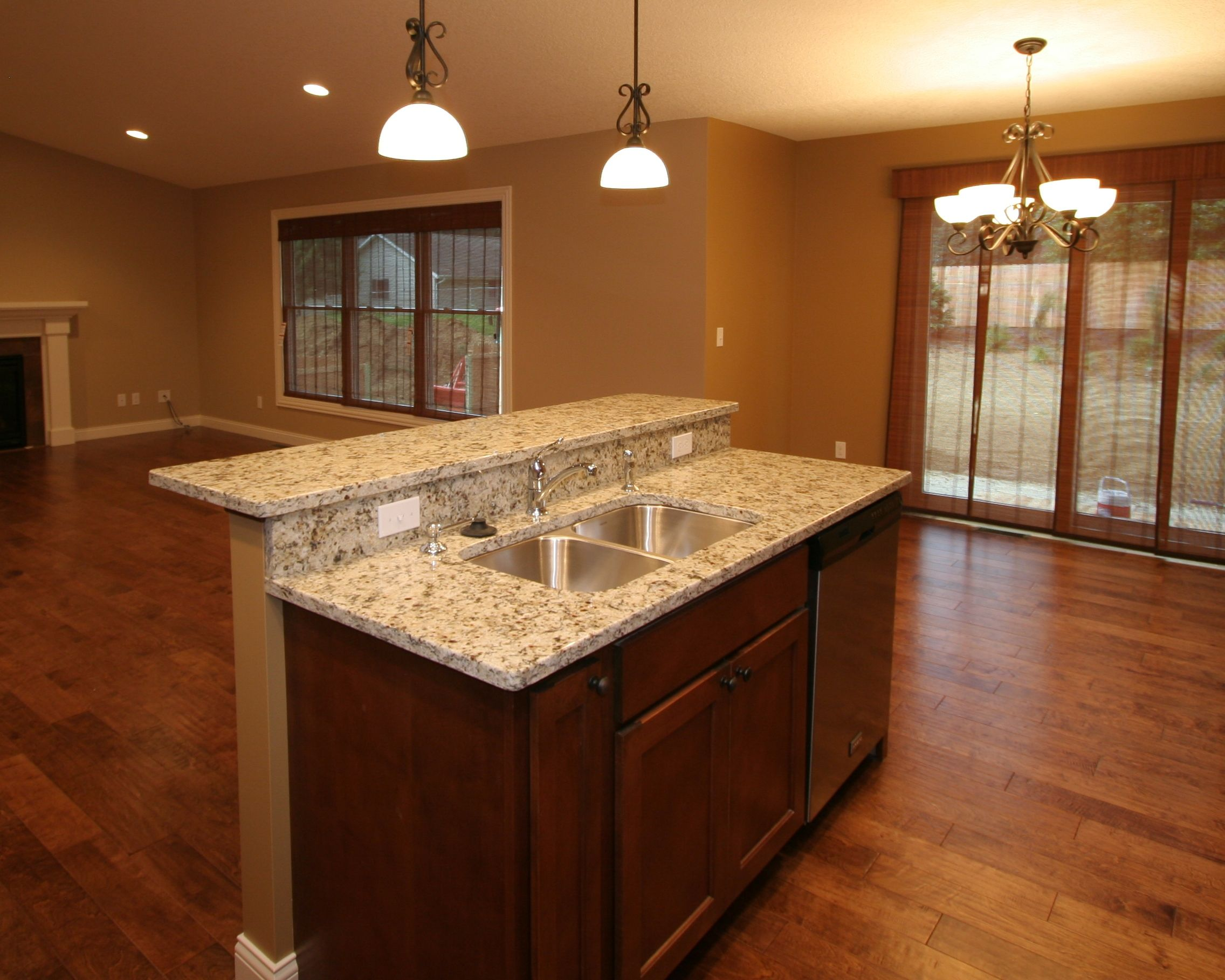 two level kitchen island designs this two level island design hides sink from sight 8606