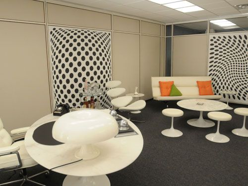 Mad Men Furniture behind-the-scenes: mad men | man office decor, man office and mad men