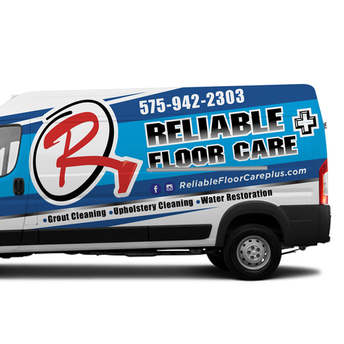design a clean, professional wrap for cleaning company